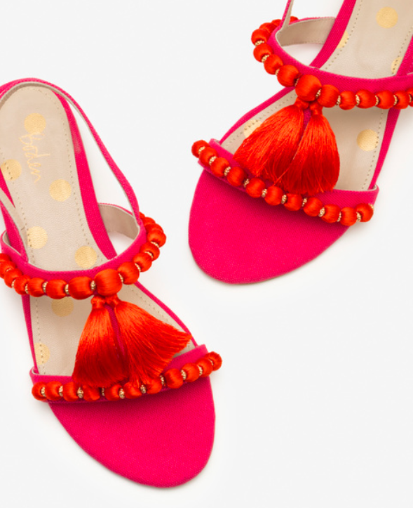 Absolutely stunning  flats at Boden with pompom's and tassels  - great for holiday.