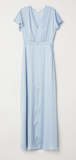 Pale blue long slip dress | H&M