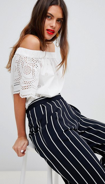 Broderie anglais off shoulder top | ASOS