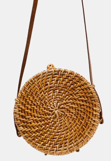 Round wicker bag | Zara