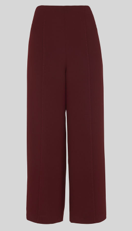 Whistles burgandy cropped cullottes
