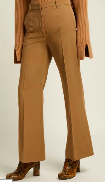 Joseph camel wool flared trousers