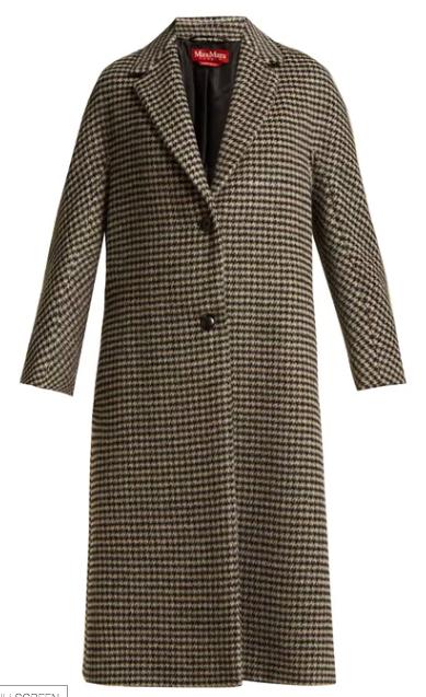 Maxmara check coat at Matches Fashion