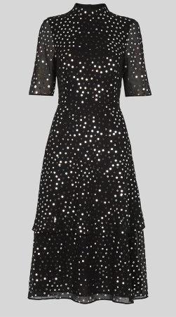 Whistles sequin backless dress