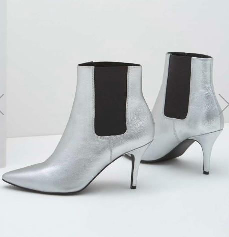 Mint Velvet silver metallic boots of dreams!