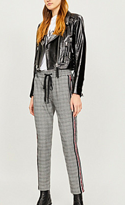 Kooples check high rise with elasticated waist