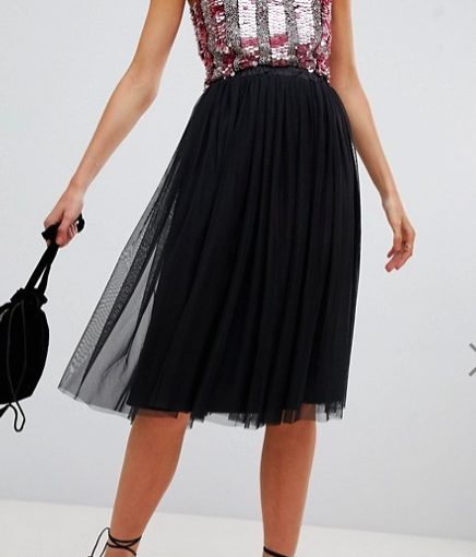 Lace & Beads black tulle skirt