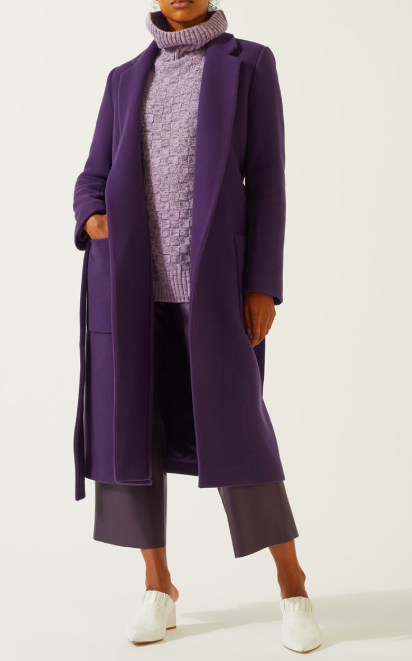 Purple wool coat at Jigsaw. £179 down from £299.