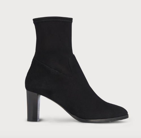 Ankle sock boots at LK Bennett  - these are good because they hug the ankle.  Affordable here.