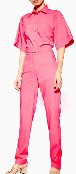 Topshop Boutique  matching pink shirt and trousers - great with nude or black heels or equally white trainers.