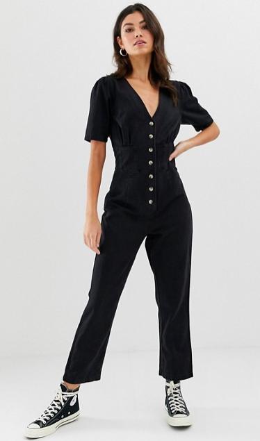 ASOS black denim jumpsuit