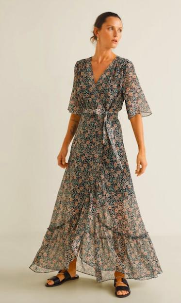 Floral Ruffle Dress - Mango