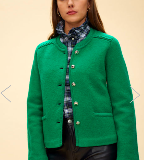 Claudie Pierlot Green Smart Cardigan