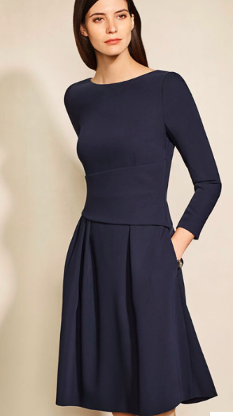 The Fold Navy Camelot Dress
