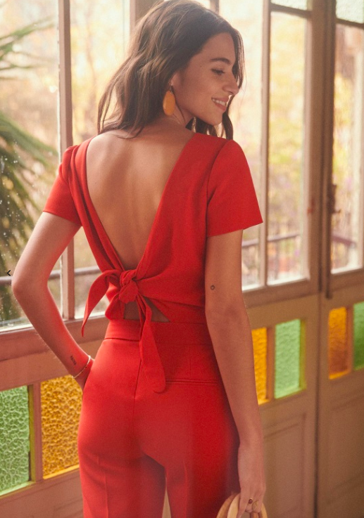 Charles jumpsuit in red