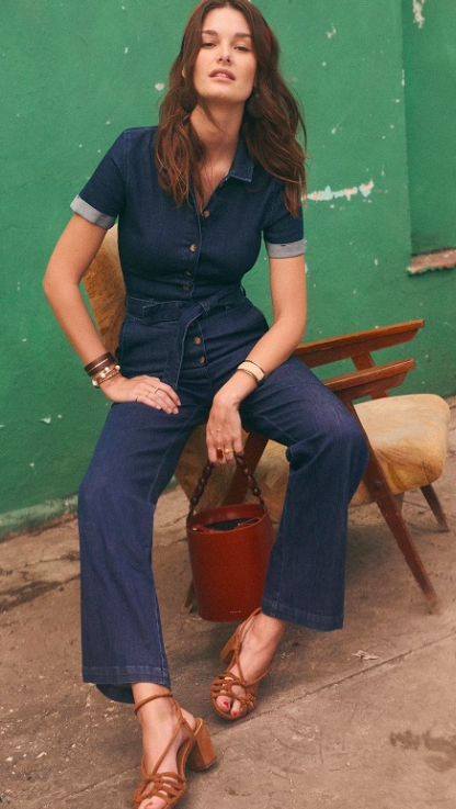Denim jumpsuit  - love the wide legs on this