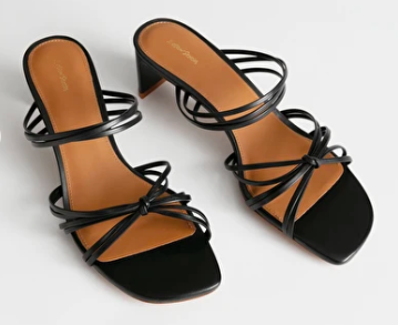 Strappy low heel sandals - &Other Stories
