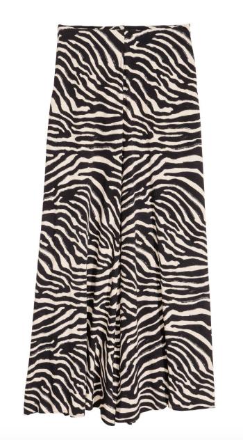 H&M Zebra maxi skirt - go on waiting list for re-stocking