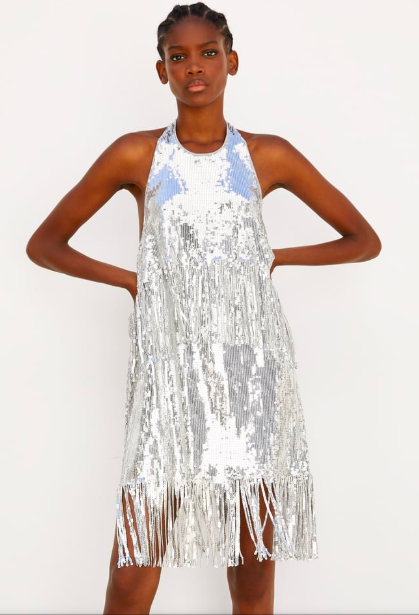 Zara limited edition sequin dress