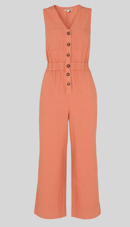 Dusty pink denim jumpsuit from Whistles