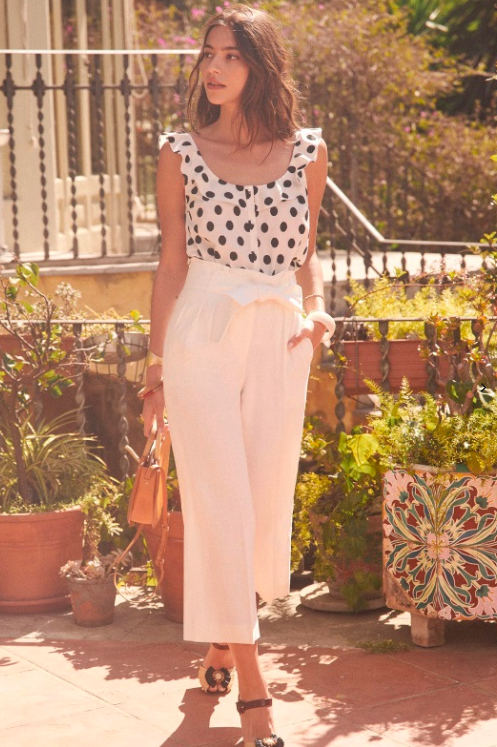 Pierre trousers  |  Ecru polka dot top