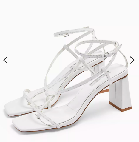 White strappy sandals at Topshop