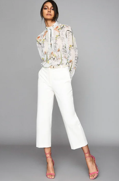Reiss floral silk blouse