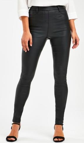 NEXT pull on leather leggings