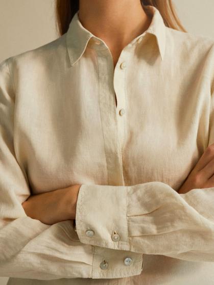 Linen shirt - Massimo Dutti