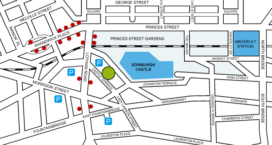 Edinburgh Farmers Market - Location