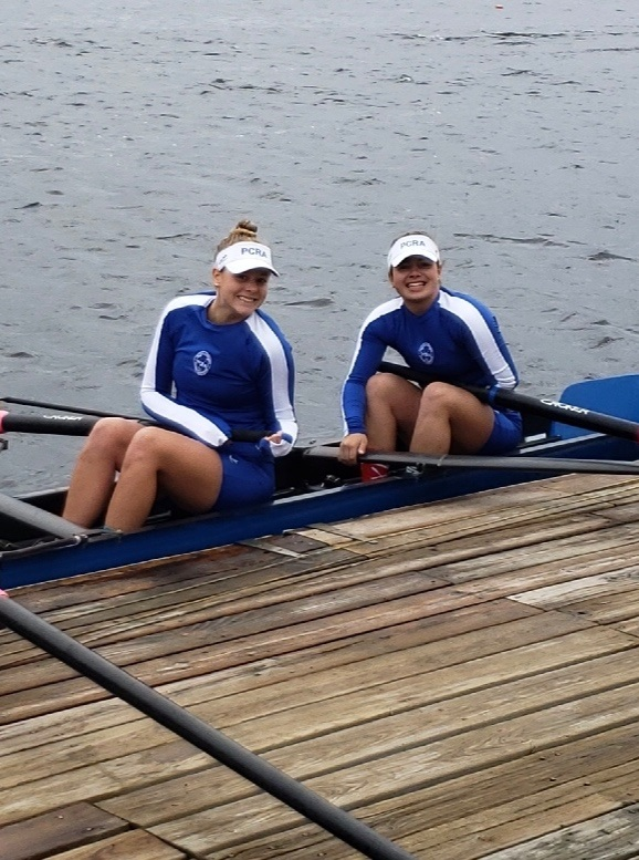 Bianca McIver and SJ O'Connor at The Head of the Charles River Regatta 2018