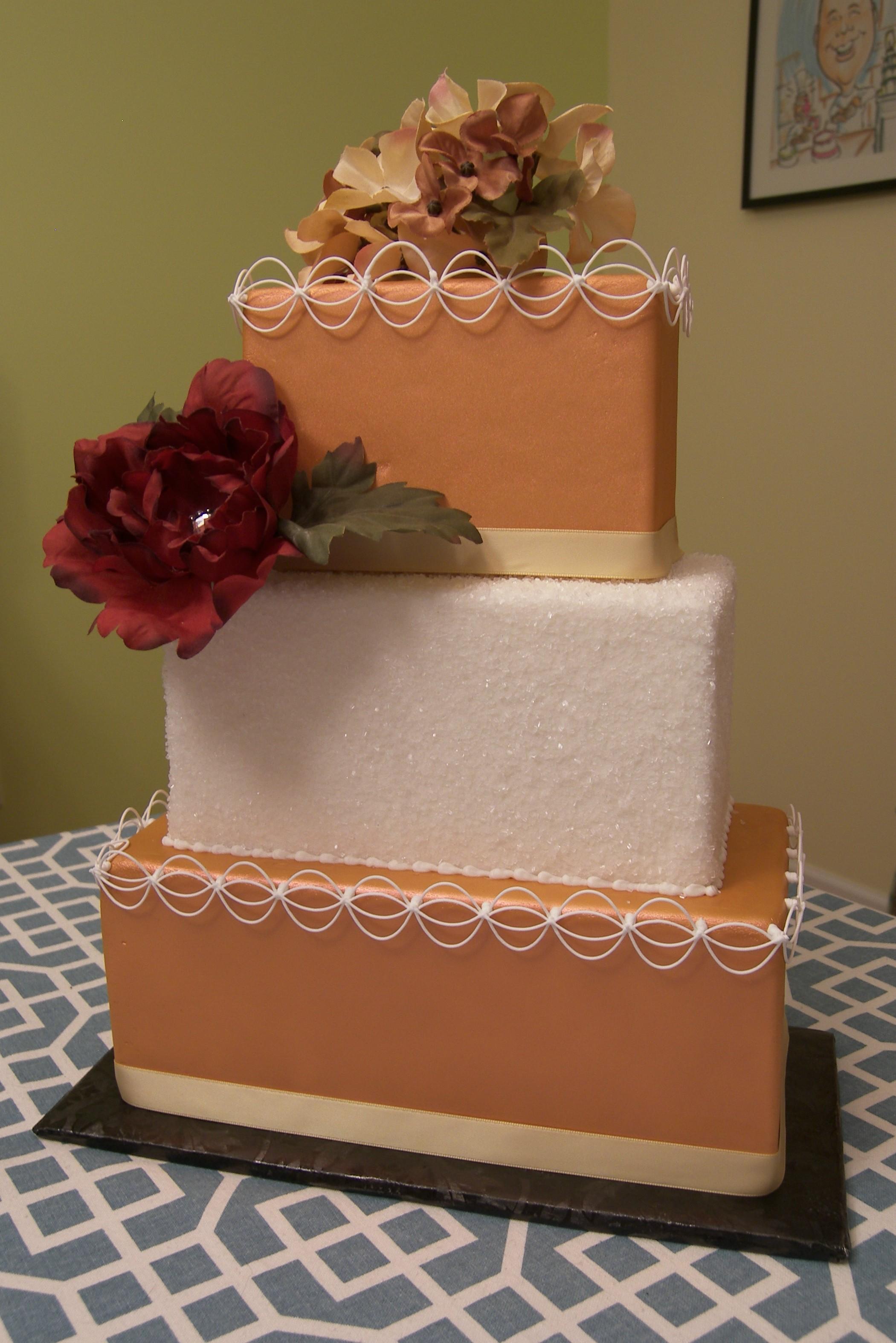 Square Copper Cake