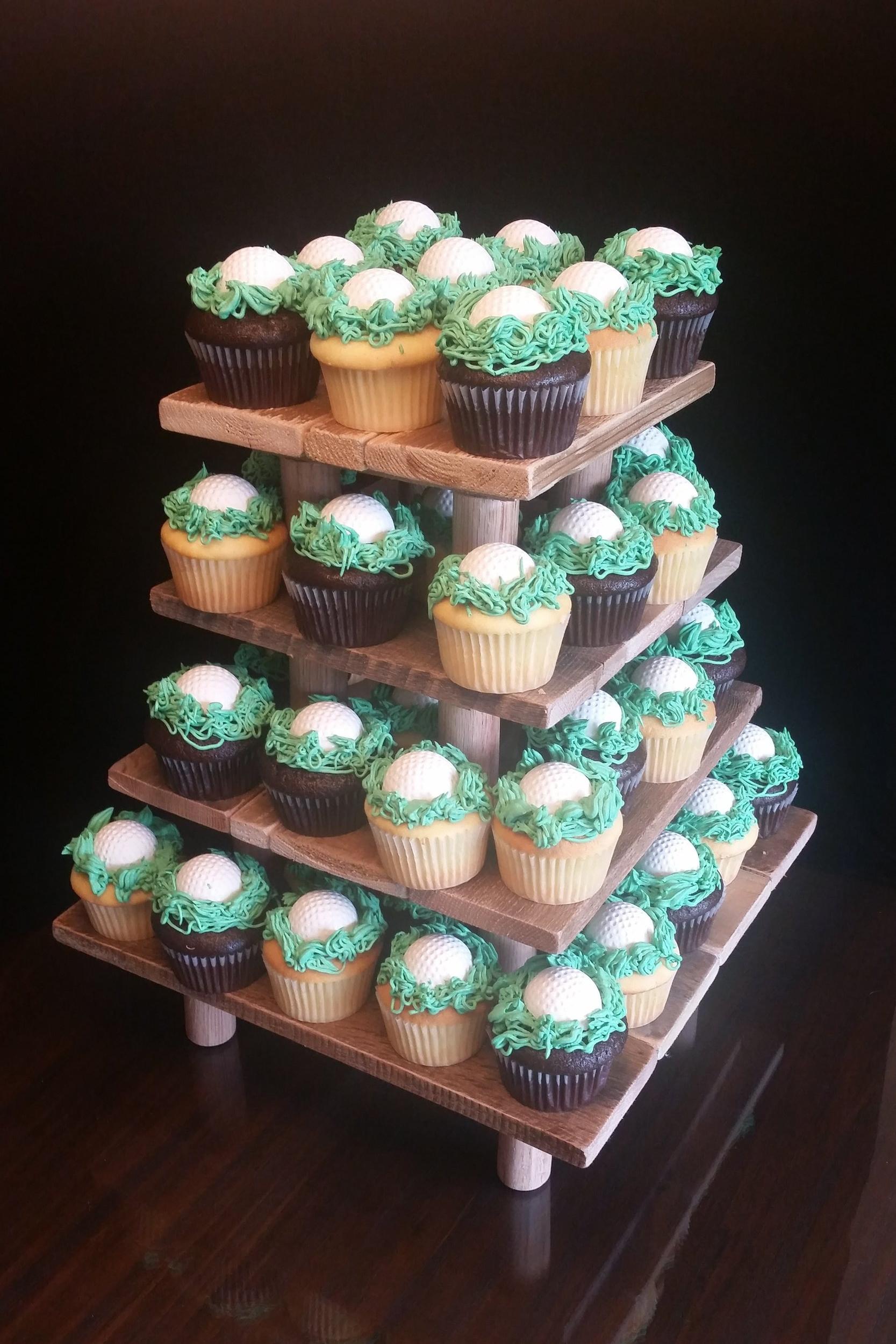 Golfball Cupcakes