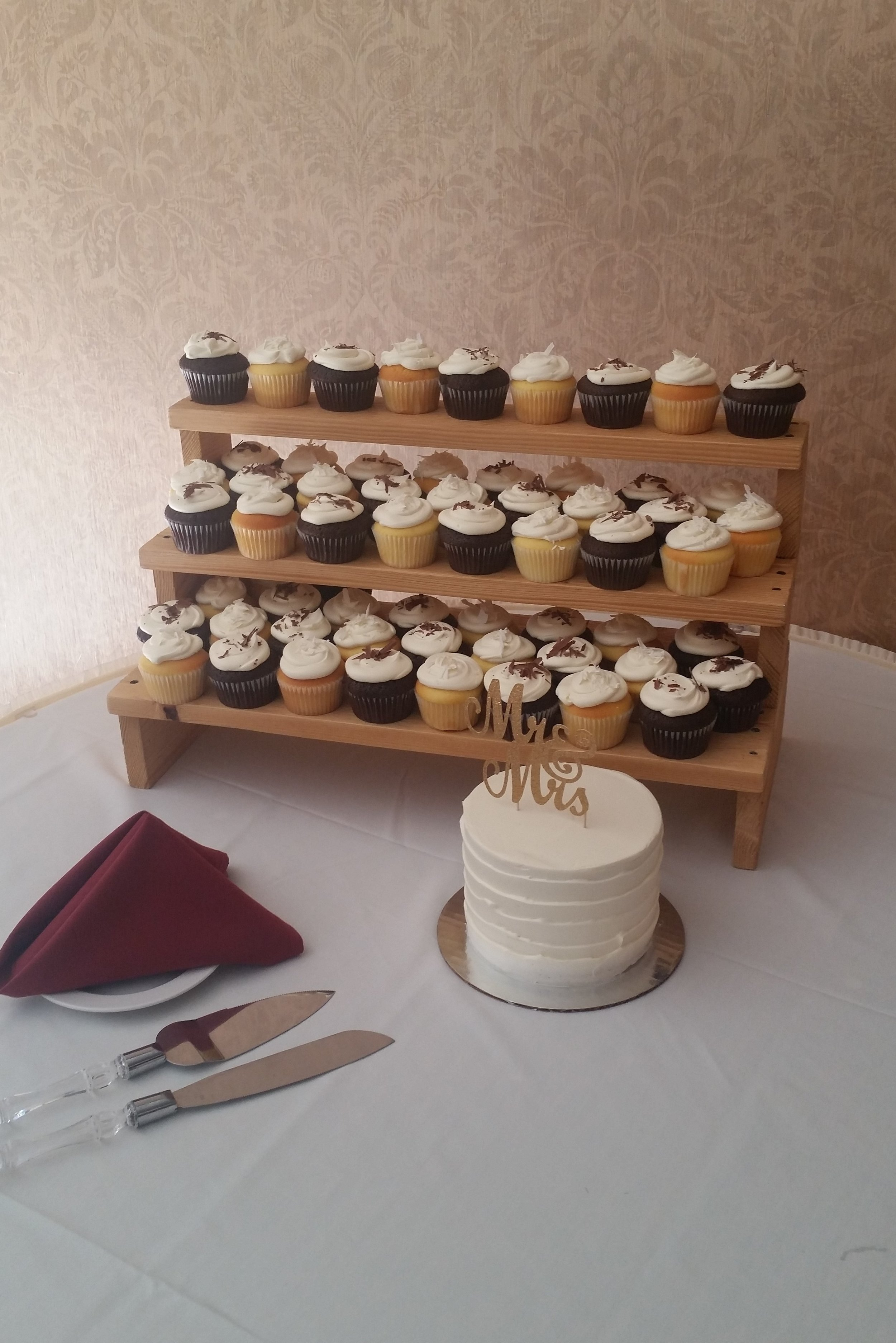 Cupcakes on a step stand