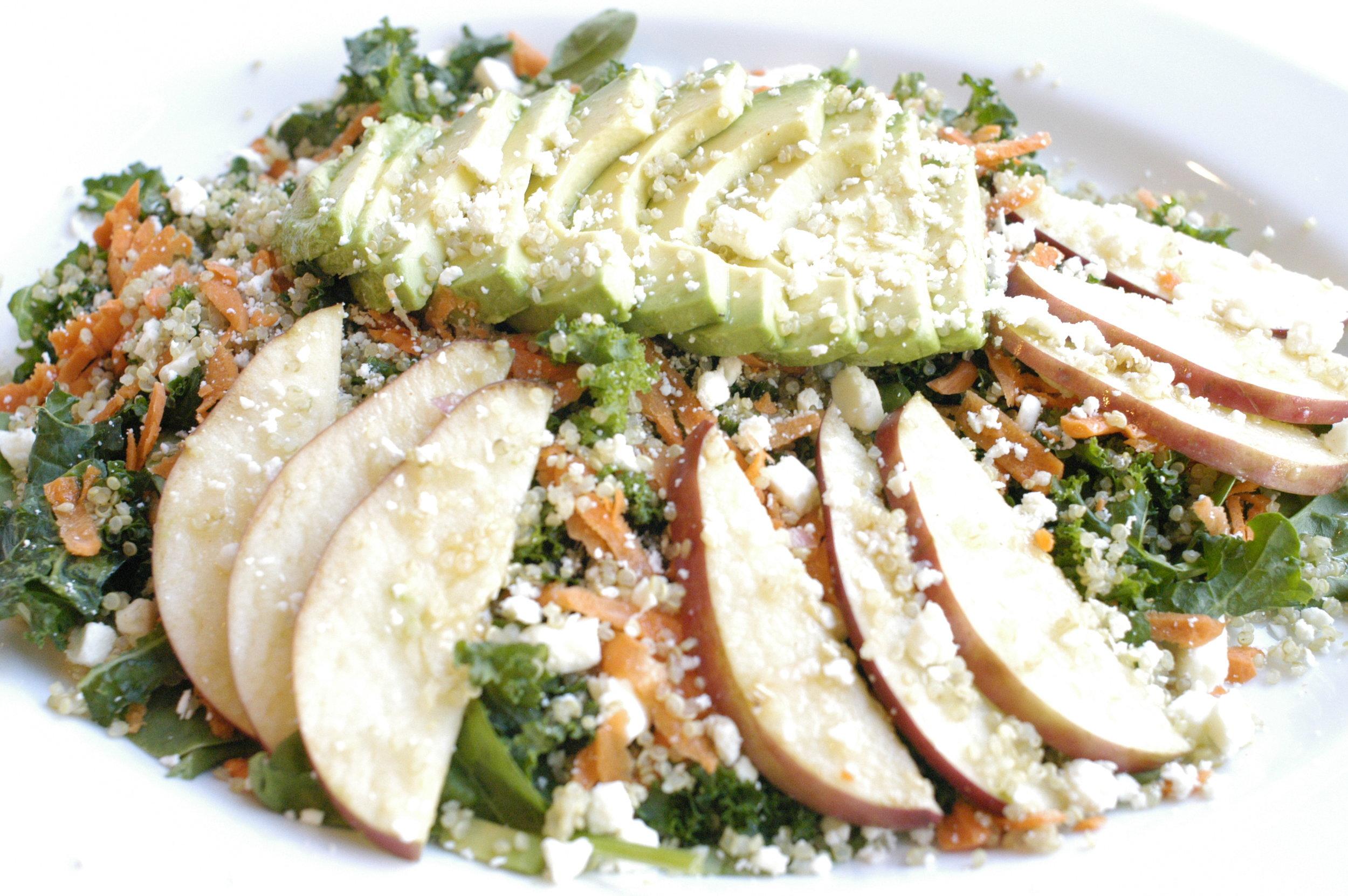 Kale & Spinach with Avocado & Quinoa