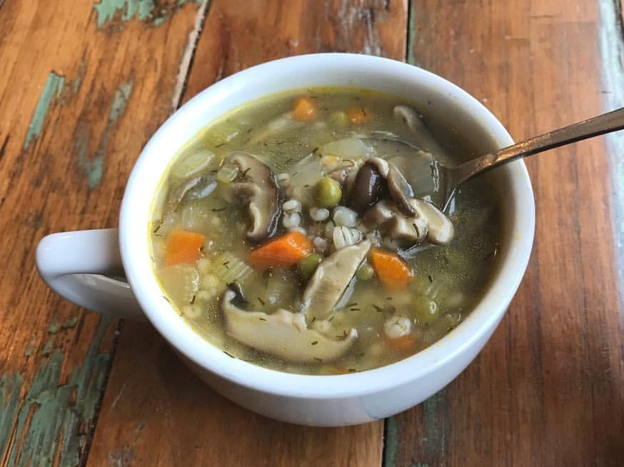 Homemade Mushrooms Barley Soup