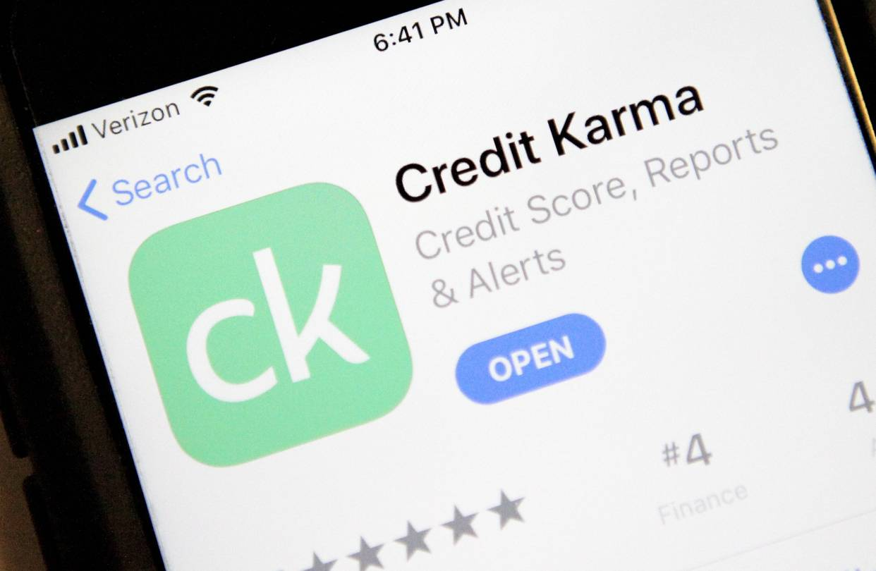 Screenshot of Credit Karma app download (Image Credit -  WSJ )