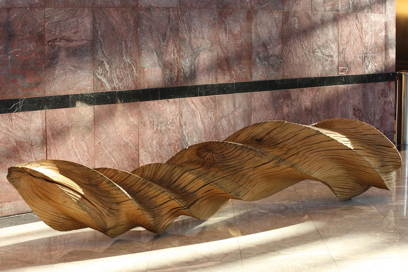 Twisting,   The Ripple Effect (2008) .1 Canada Square, Canary Wharf, London.Photo: Heini Schneebeli