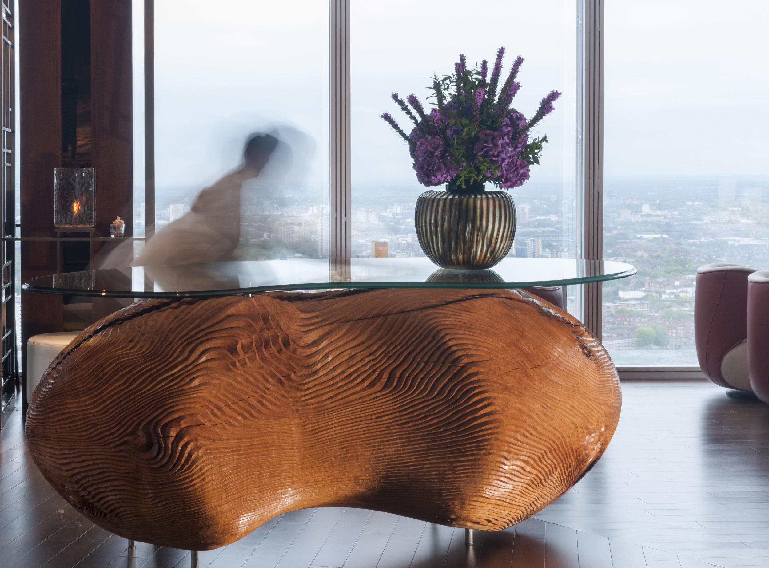 Diatom I (2014) . The Shangri-La Hotel, The Shard, London. Photo: Jacqui Hurst