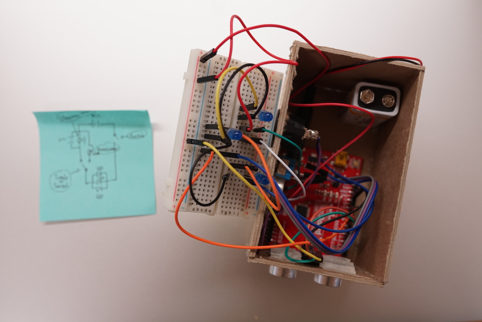 Assemble Circuit and Put Them Inside of Box