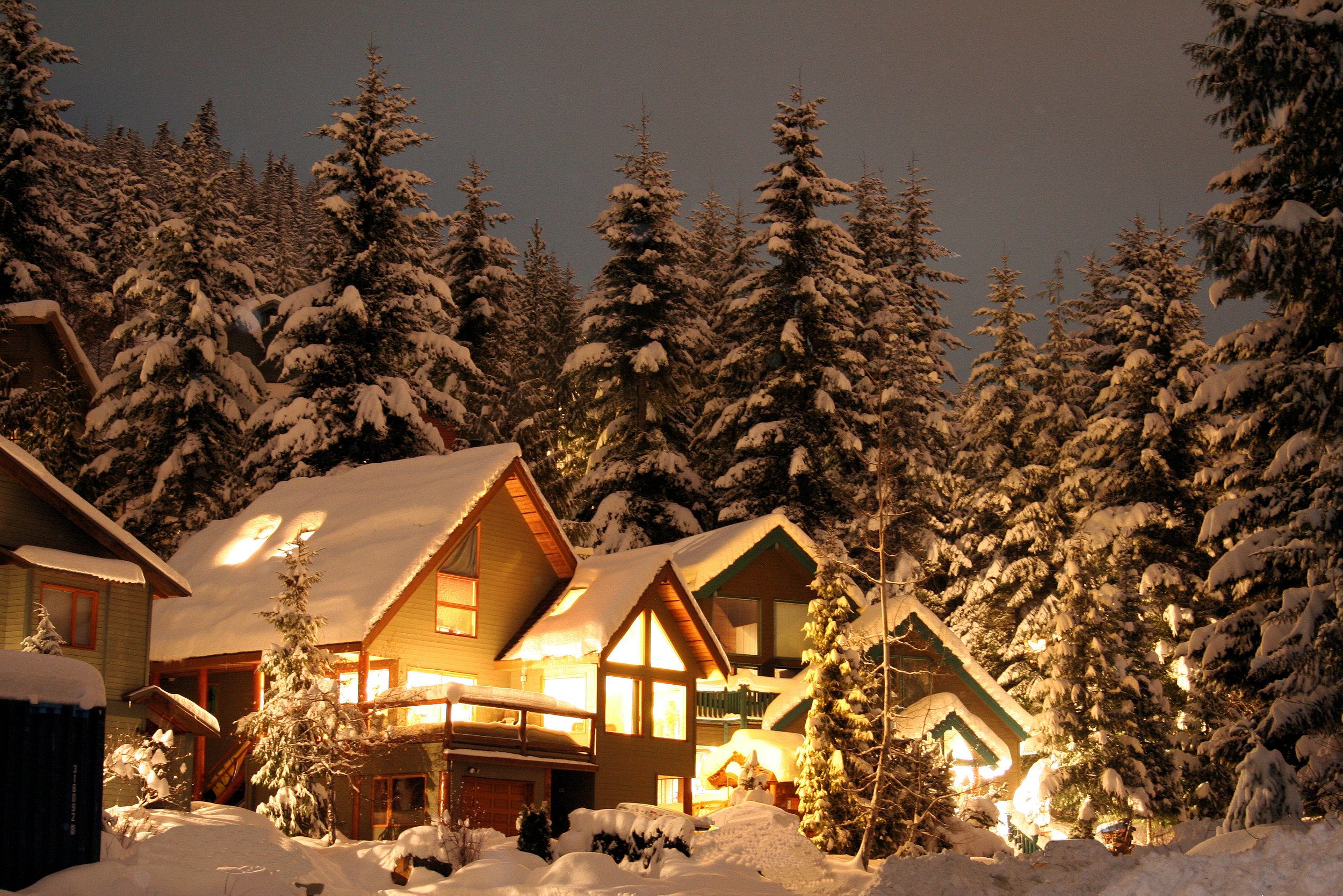 Snow Cabin at night.jpeg