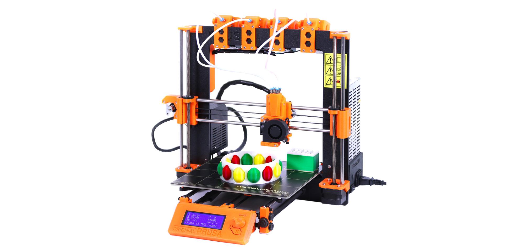Цветной 3D принтер с одним соплом PRUSA I3 MK2 MULTI MATERIAL. Фото  prusaprinters.org