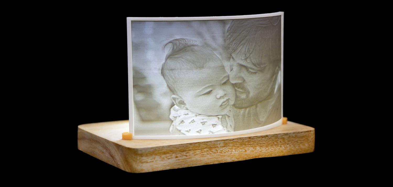 Распечатанный на 3D принтере литофан с  kraftly.com