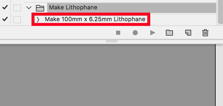 """Операция """"Make Lithophane.atn"""" готова к работе"""