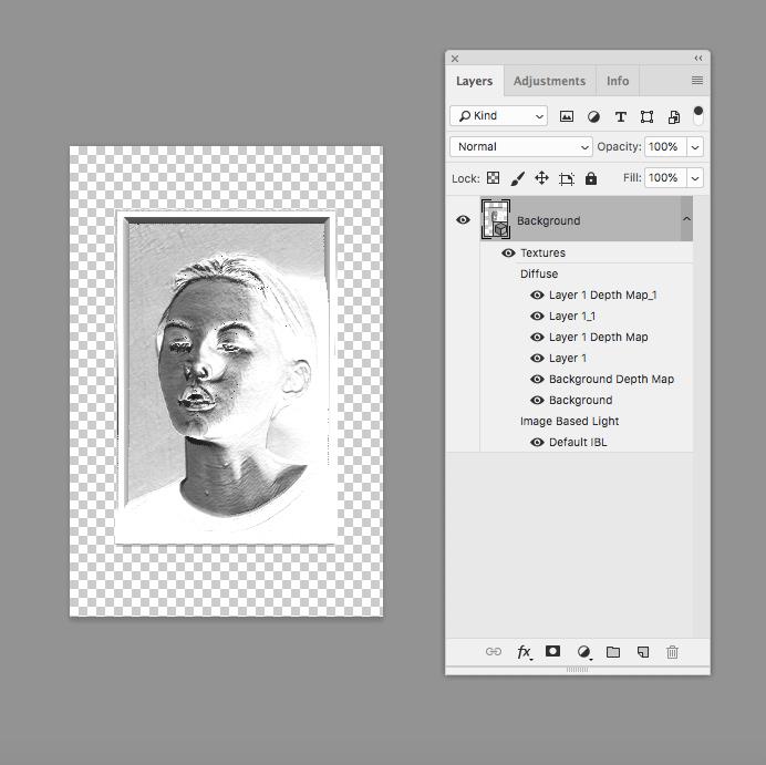 Литофан в Photoshop CC