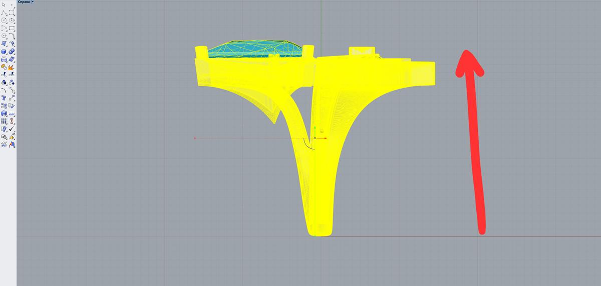 Поднимаем нашу модель на нулевую плоскость