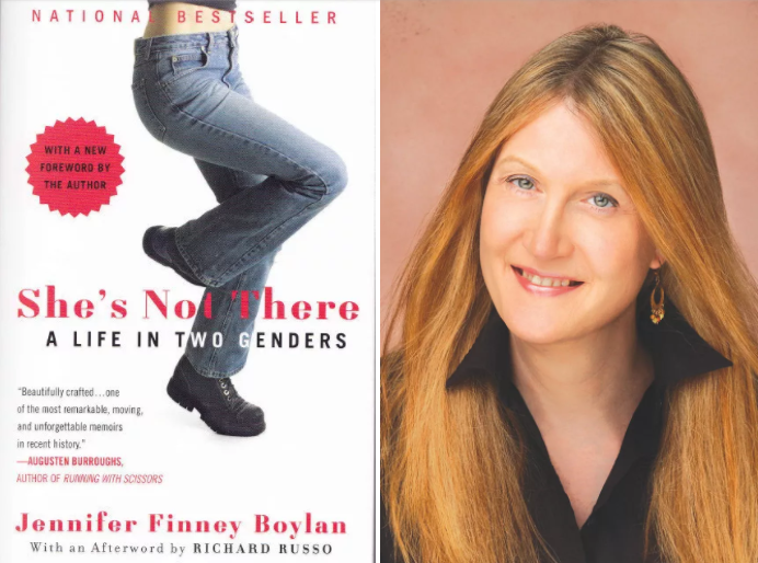 """She's Not There: A Life in Two Genders, was the first book published by an openly transgenderAmerican to become a bestseller - The provocative bestseller She's Not There is the exuberant memoir of a man named James who became a woman named Jenny.She's Not There is the story of a person changing genders, the story of a person bearing and finally revealing a complex secret; above all, it is a love story. By turns hilarious and deeply moving, Jennifer Finney Boylan explores the remarkable territory that lies between men and women, examines changing friendships, and rejoices in the redeeming power of family.She's Not Thereis a portrait of a loving marriage—the love of James for his wife, Grace, and, against all odds, the enduring love of Grace for the woman who becomes her """"sister,"""" Jenny."""
