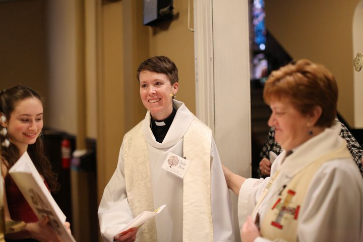 Transgender pastor celebrated at renaming service - By Caitlin MotaThe Jersey JournalHOBOKEN – Churchgoers attending Sunday service at St. Matthew Trinity Lutheran Church celebrated the renaming of their pastor.The Rev. Rose Beeson has been transitioning from woman to man since last summer,sharing the journey with parishioners.After giving a sermon on what is known in the church as Transfiguration Sunday, the Rev. Tracie Bartholomew, bishop of the New Jersey congregation, held a