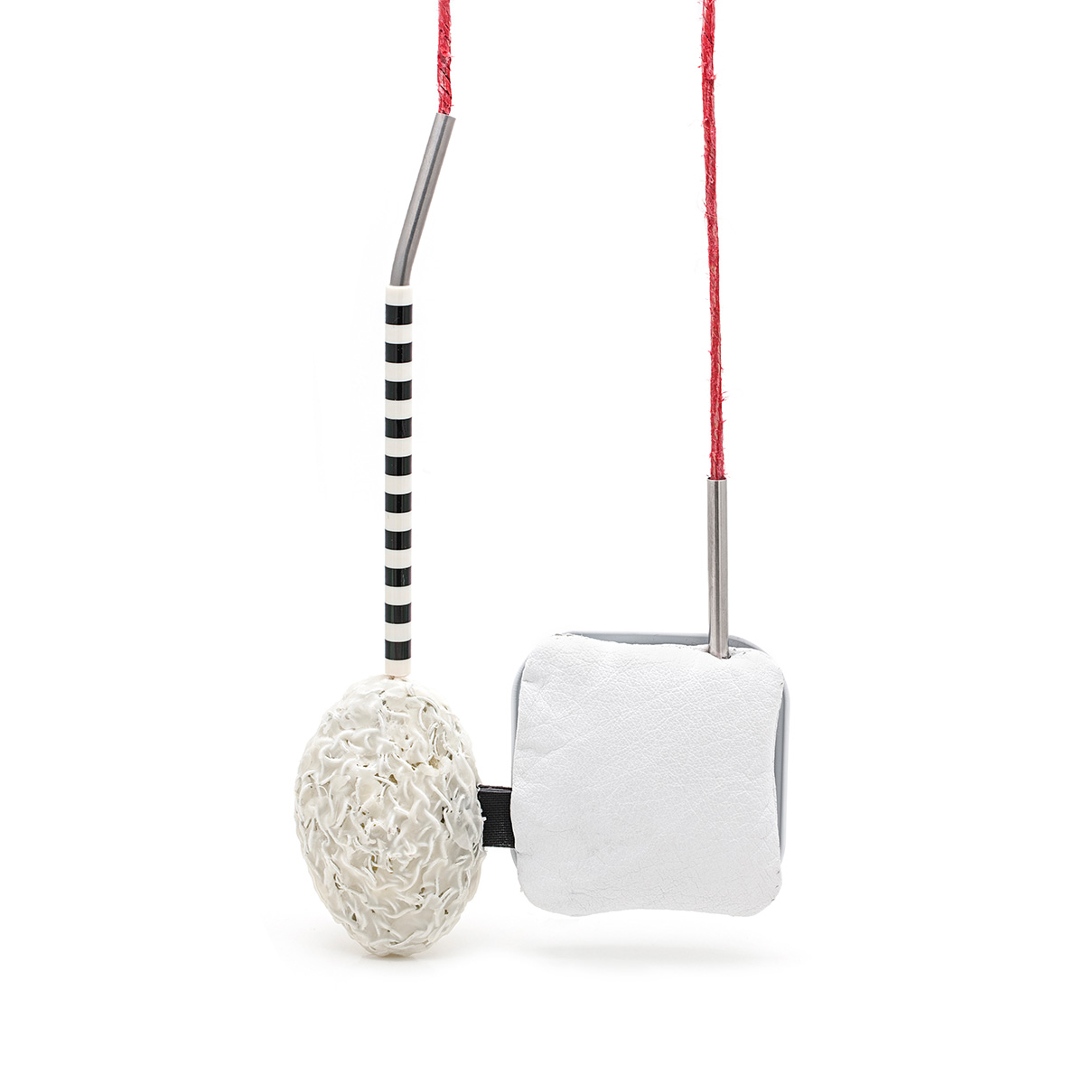 Yoshie Hattori   Droplet  Plastic, metal, leather, stainless steel, linen