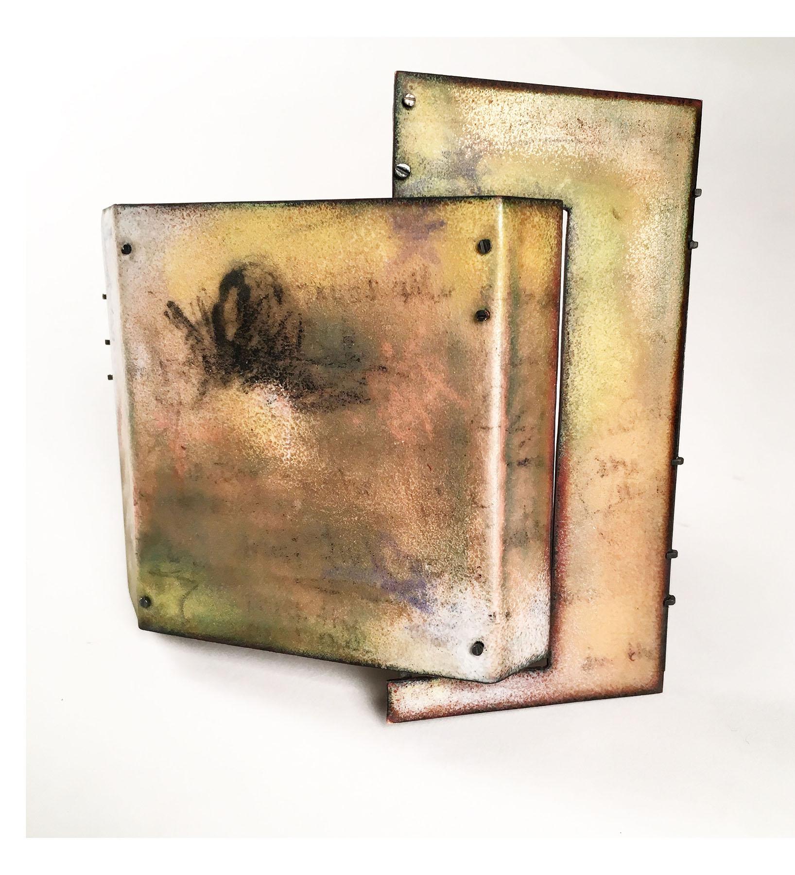 Kim Paquet  Trust the Process  (2018) Silver, copper, enamel, steel
